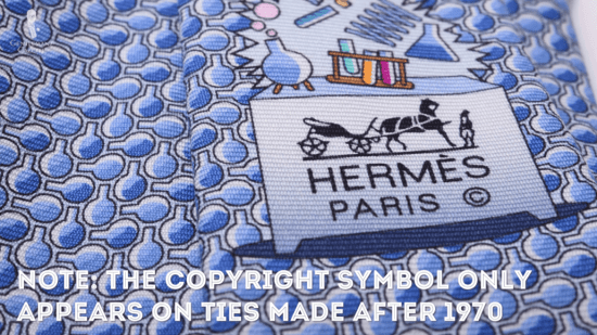 Stamped Hermes Paris logo
