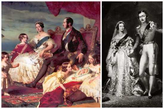 Two portraits showing Prince Albert in slippers