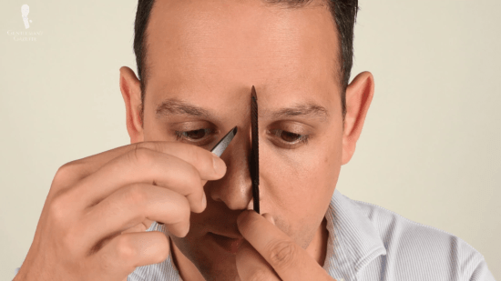 Use your comb to make sure you follow the shape of your brow