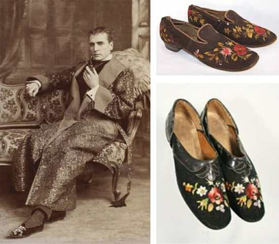 Victorian mens slippers