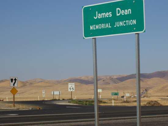 The site of James Dean's fatal crash, now named James Dean Memorial Junction.