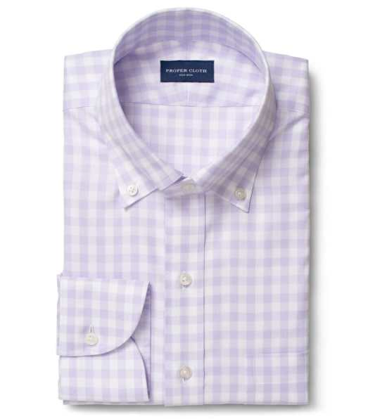 Lavender button-down shirt
