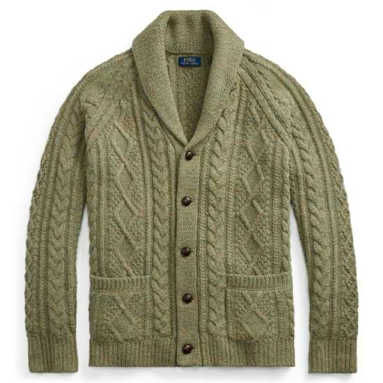 Ralph Lauren Cable Knit Cardigan Sweater