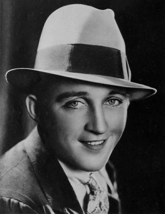 Bing Crosby in a hat with a tall crown