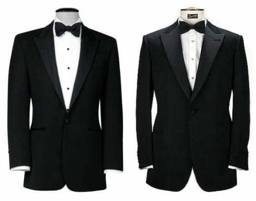 Button Stance on Tuxedos