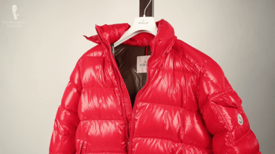 Moncler's iconic red down jacket