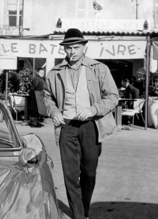 Yul Brynner in a hat