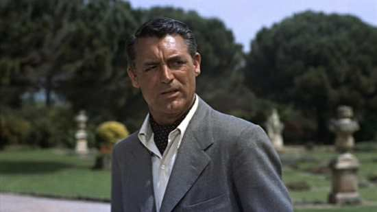 Cary Grant wearing an ascot in To Catch A Thief