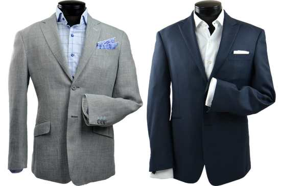 Notch and peak lapels
