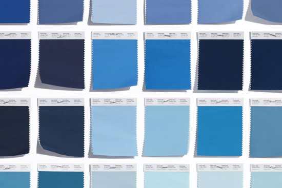 Pantone blue colors