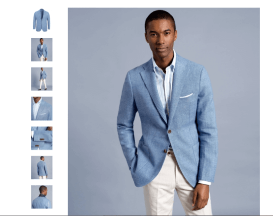 Multiple views of a sport coat