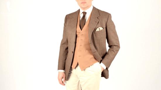 Sven Raphael Schneider looking dapper in an all neutral ensemble