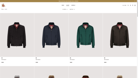 Baracuta Website