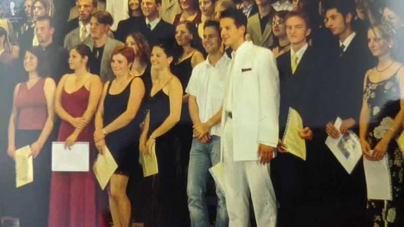 Raphael's graduation photo
