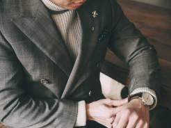 Turtleneck Under Suit Jacket Details
