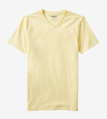 Express Yellow V-Neck T-Shirt