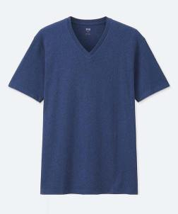Uniqlo Blue V-Neck T-Shirt