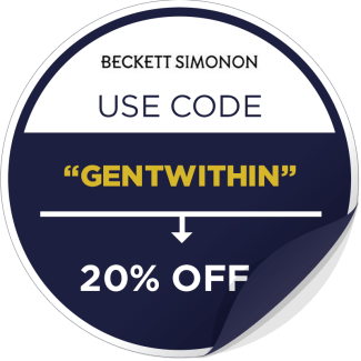 Beckett Simonon Promotional Sticker