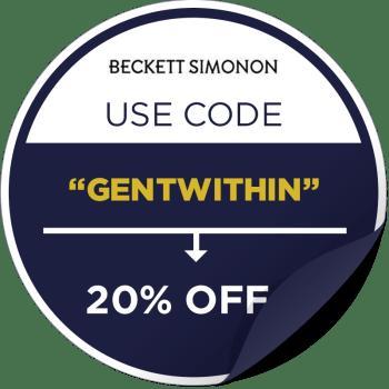 Beckett Simonon Promotional Sticker