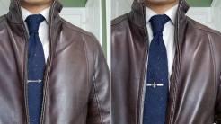 Look 4: Leather Jacket FleurDeLis And Arrow Tie Bar | GENTLEMAN WITHIN
