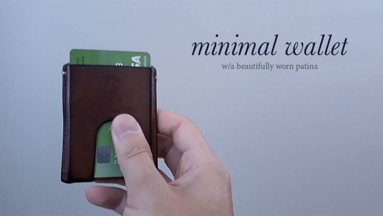 anson calder minimalist card wallet