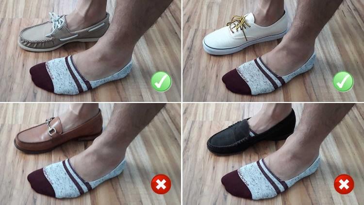 Etiquette Clothiers No Show Sock Test