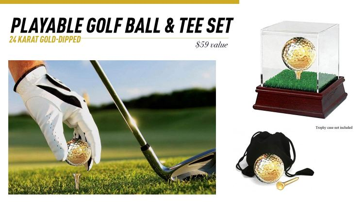 Eternity Rose Golf Ball & Tee Set Giveaway