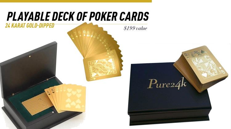 Eternity Rose 24k Gold Poker Cards Giveaway