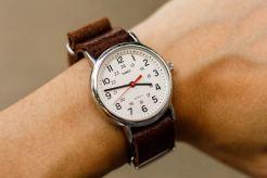 Timex Weekender Brown Leather Strap