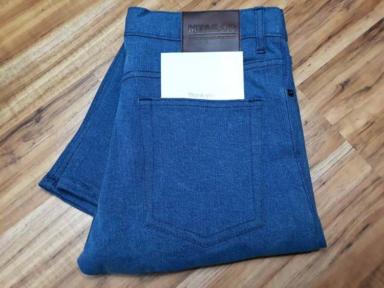 MTailor Jeans Unpackaged