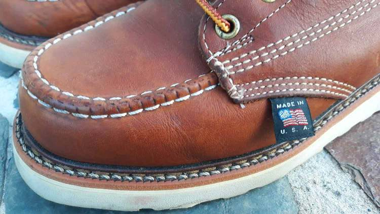 Thorogood Boots Stitching Details & Made In USA