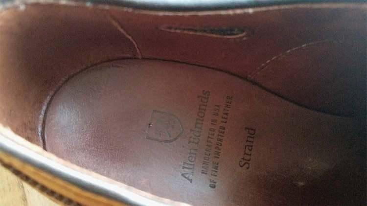 Allen Edmonds Custom Cork Insole