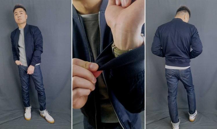 Everlane Cotton Bomber Jacket Fit