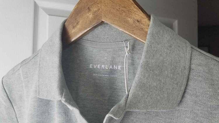 Everlane Grey Pique Polo Shirt