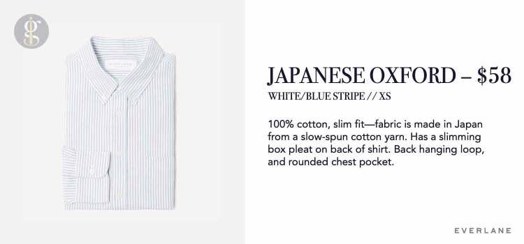 Everlane Japanese Slim Fit Oxford Details
