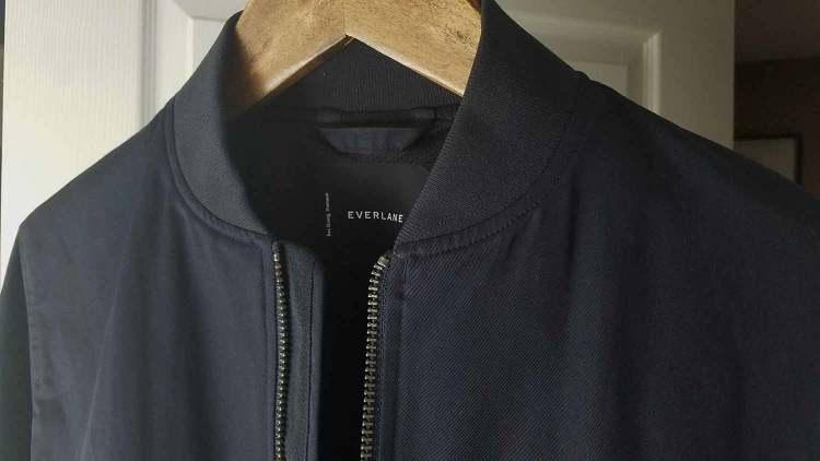 Everlane Navy Cotton Bomber Jacket