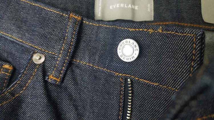 Everlane Slim Fit Dark Wash Indigo Jeans