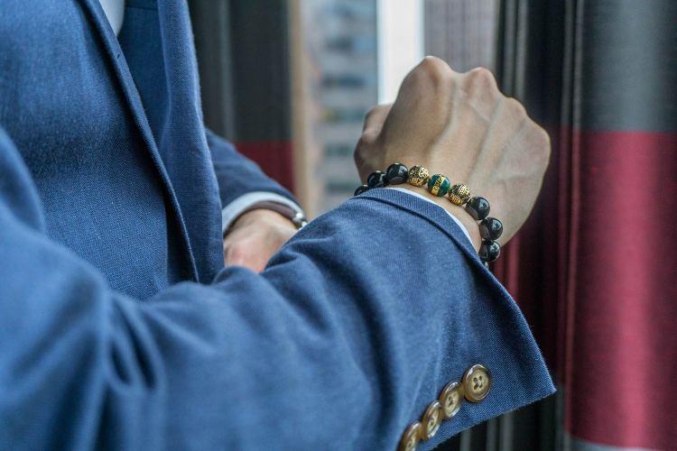 Azuro Republic Bracelet On Wrist Detail Shot