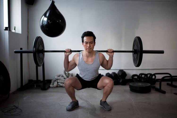 Barbell Back Squat Exercise