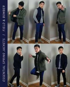 Field Jacket and Bomber Jacket Outfit Inspiration