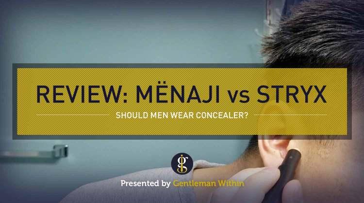 Review: Menaji Camo Concealer vs Stryx Concealer Tool (should men wear makeup?) | GENTLEMAN WITHIN