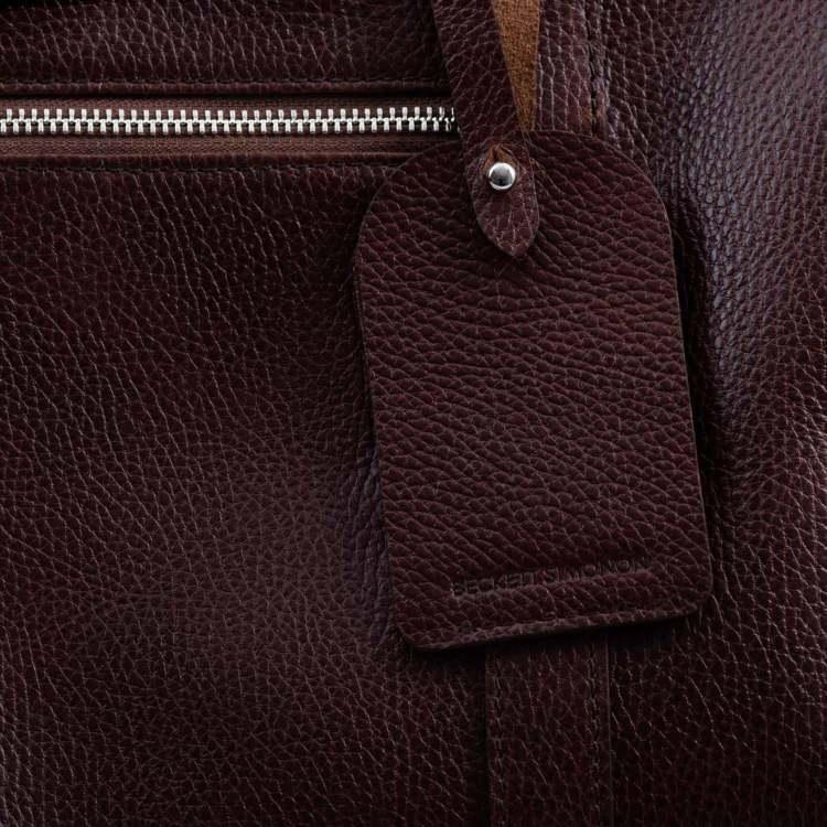 Beckett Simonon Davis Weekender Leather Quality Details Oxblood