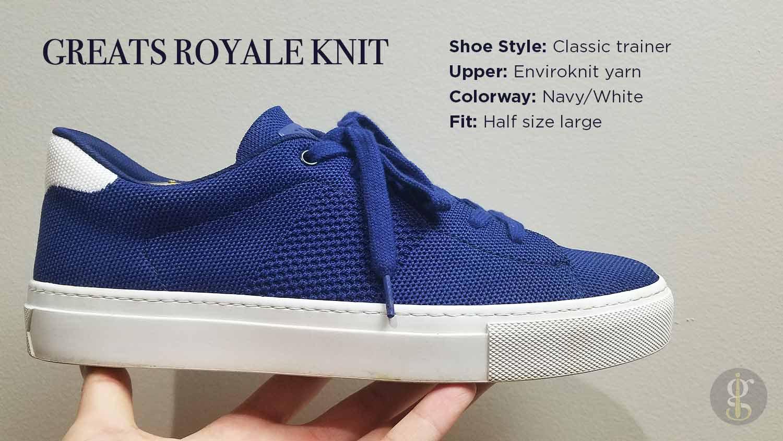 Greats Royale Knit Sneaker vs Everlane
