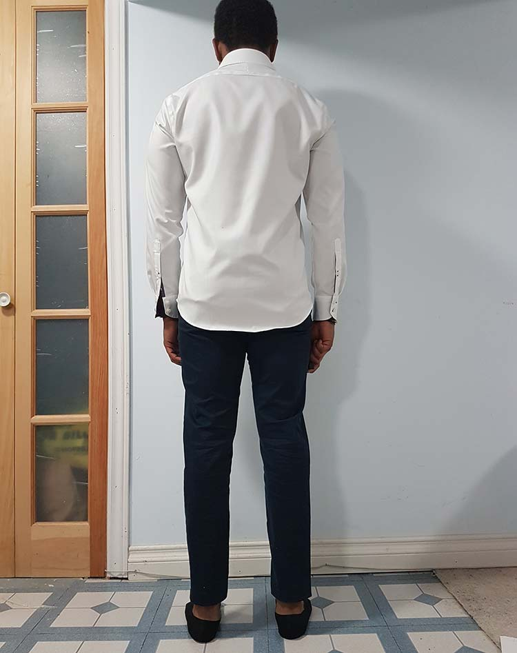 Twillory Non-Iron Shirt Back View