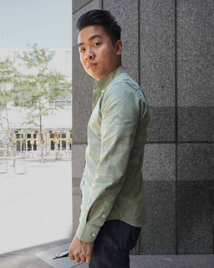 Muted Green Everyday Shirt Feature