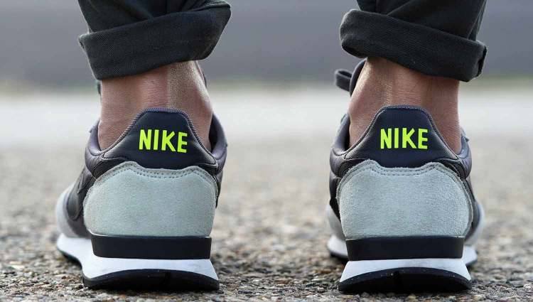 Nike Internationalist On Feet Heel Collar