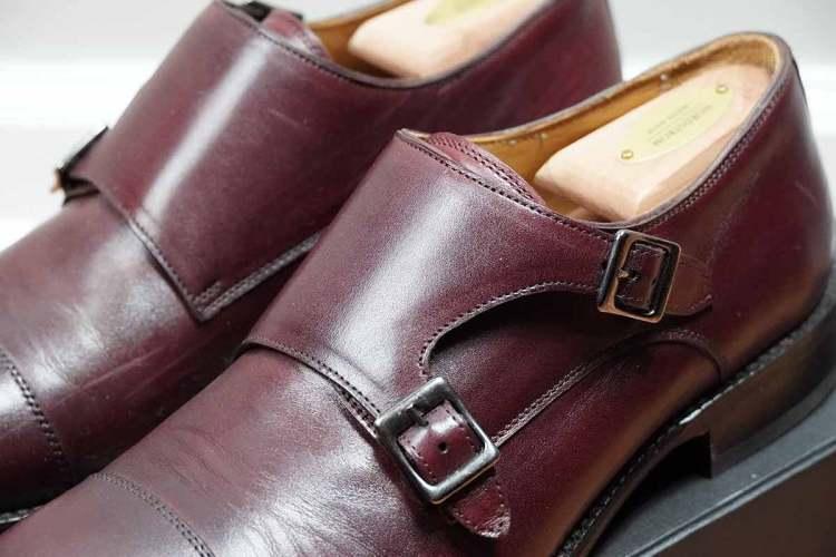Beckett Simonon Hoyt Bordeaux Leather Detail