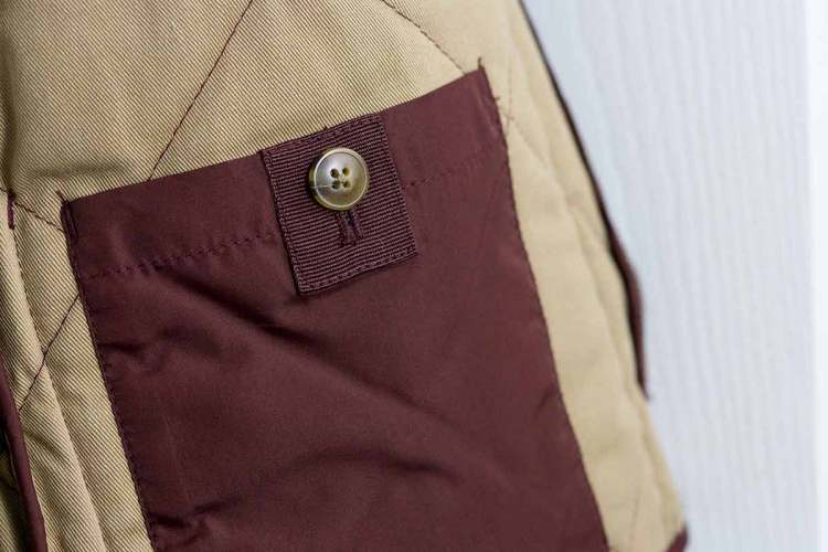 Burgundy Walker Vest Inside Pocket