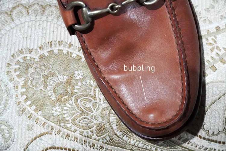 Cole Haan Bit Loafer Leather Bubbling