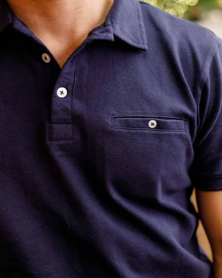 Ash & Erie Pique Polo Shirt Details